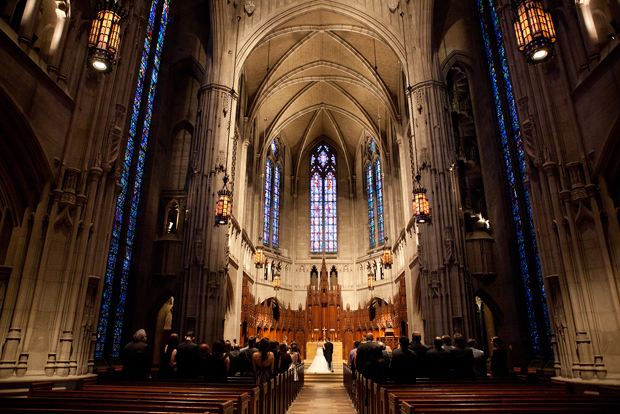 Amy and Will's ceremony at Heinz Chapel