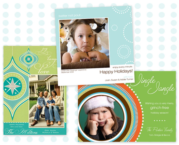 Bright and cheery photo holiday cards