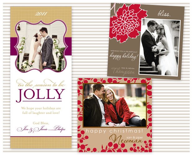 Warm holiday photo cards