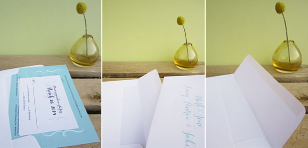 using inner and outer envelopes for wedding invitations