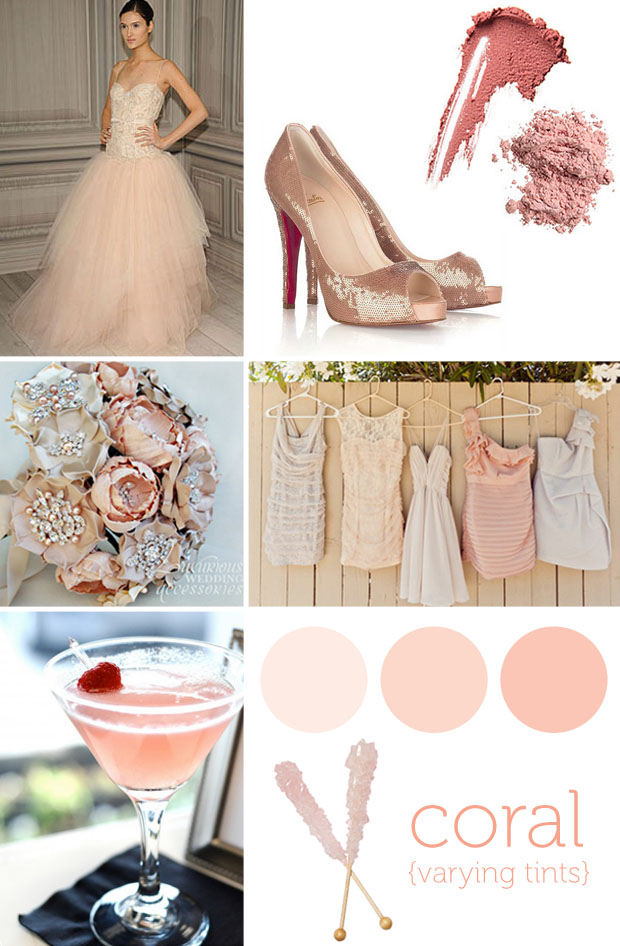 blush color inspiration board