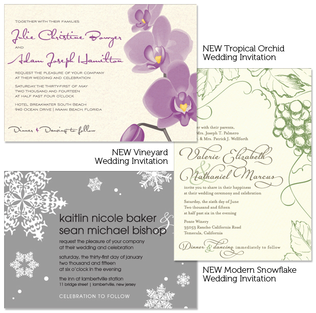 Popular invitation designs take new format.