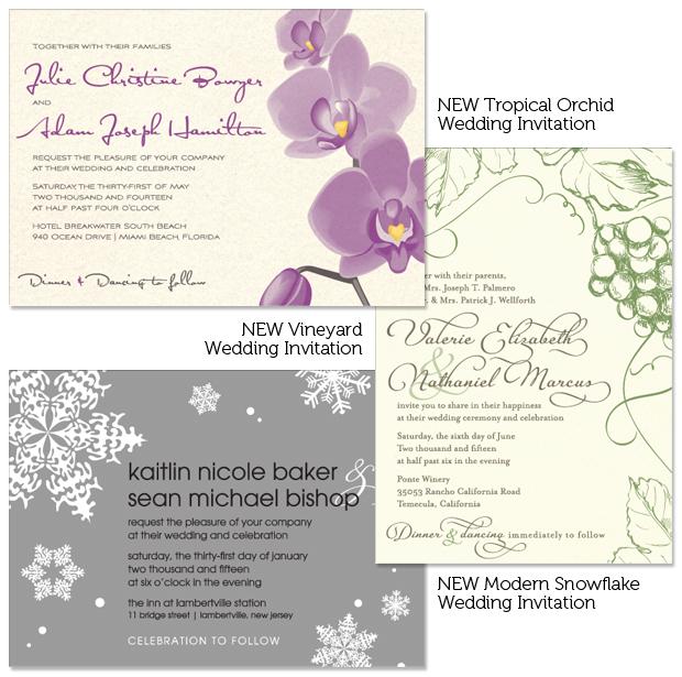 Popular invitation designs take new format.