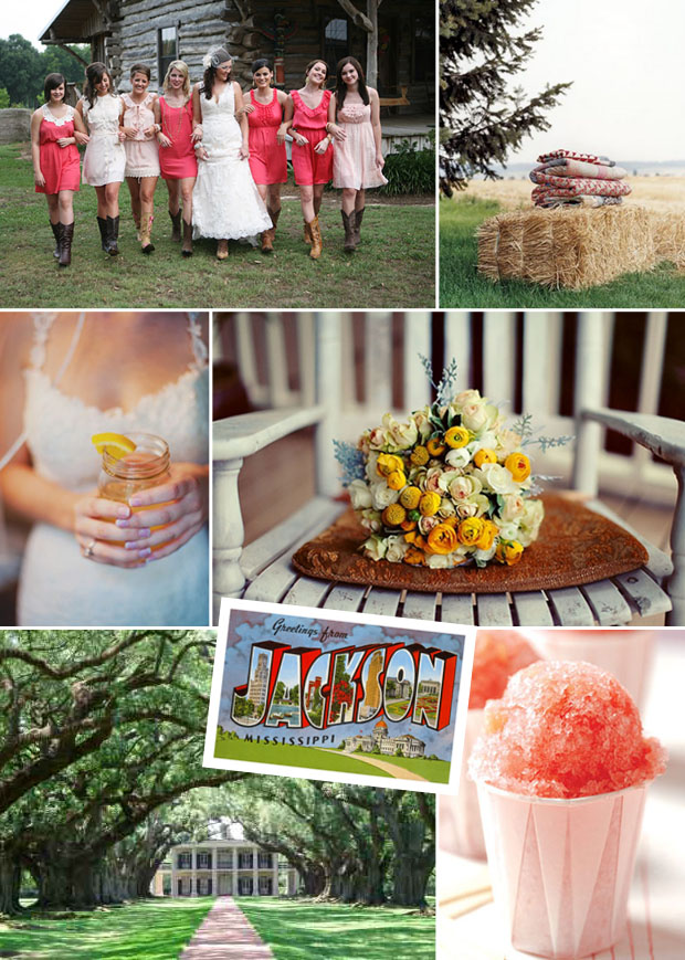 jackson mississippi wedding inspiration board