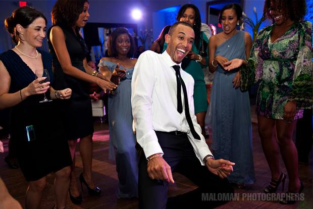 Adrian gets down on the dance floor