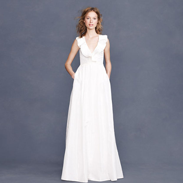 wedding gowns under $1000: j. crew kira dress
