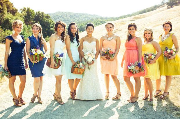 Multi-color Bridesmaid Dresses