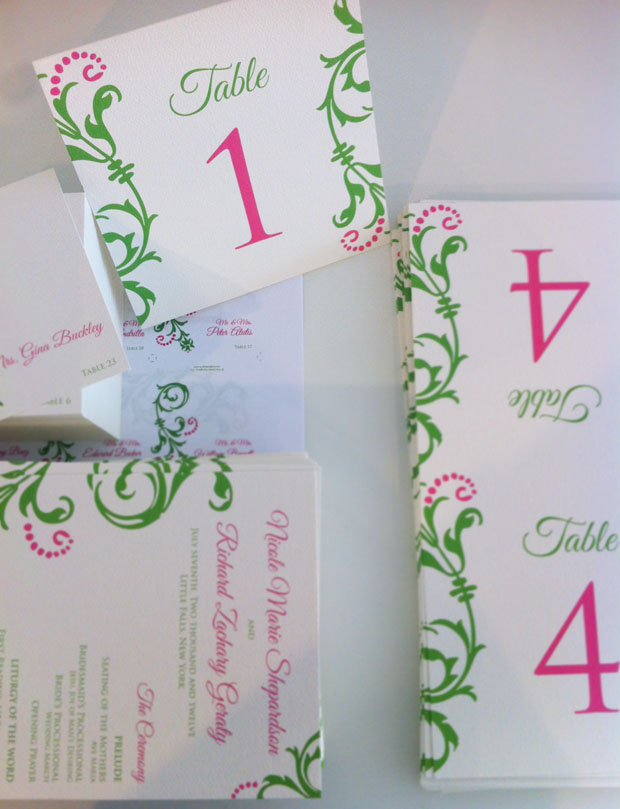 josie table stationery