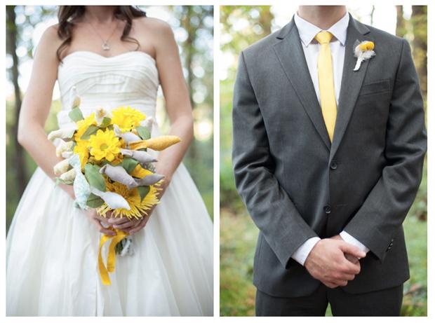 Kristin and Matt's wedding day attire