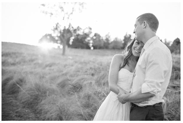 Kristin and Matt, snuggly newlyweds!