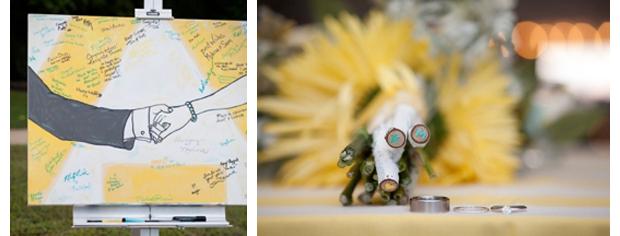 Unique touches in K+M's wedding