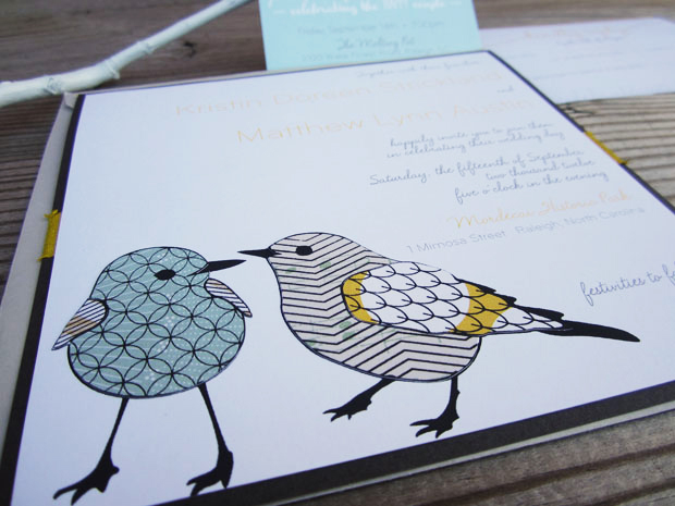 Kristin and Matt's handmade invitations