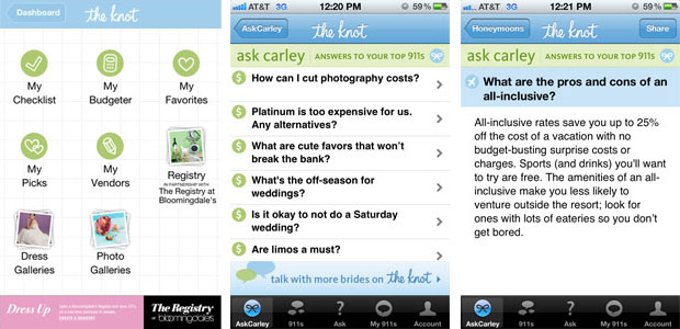 the knot wedding planning apps