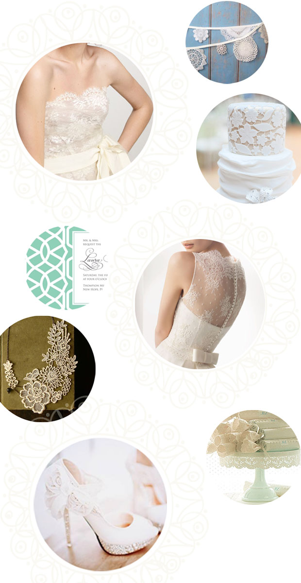 lace wedding details