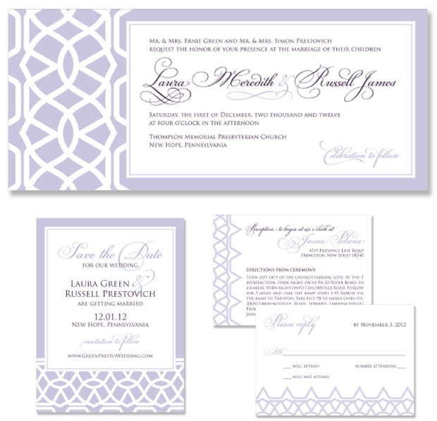Lace Wedding Invitation and Save the Date
