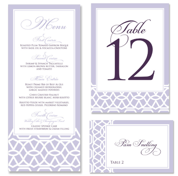 Lace 2012 New Design Table Stationery