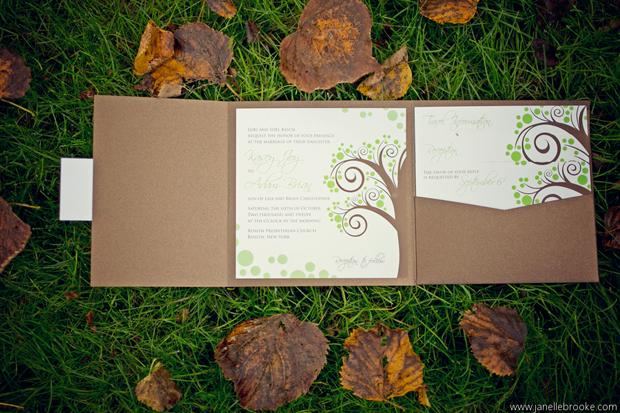 Kasey + Adam's wedding invitations from The Green Kangaroo