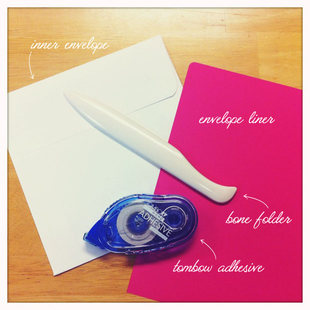 diy envelope liner supplies