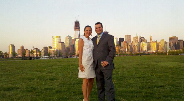 lori and ryan - new york skyline