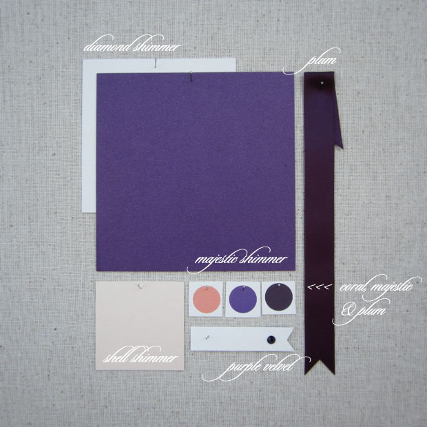 wedding colors: majestic and plum, royal purples