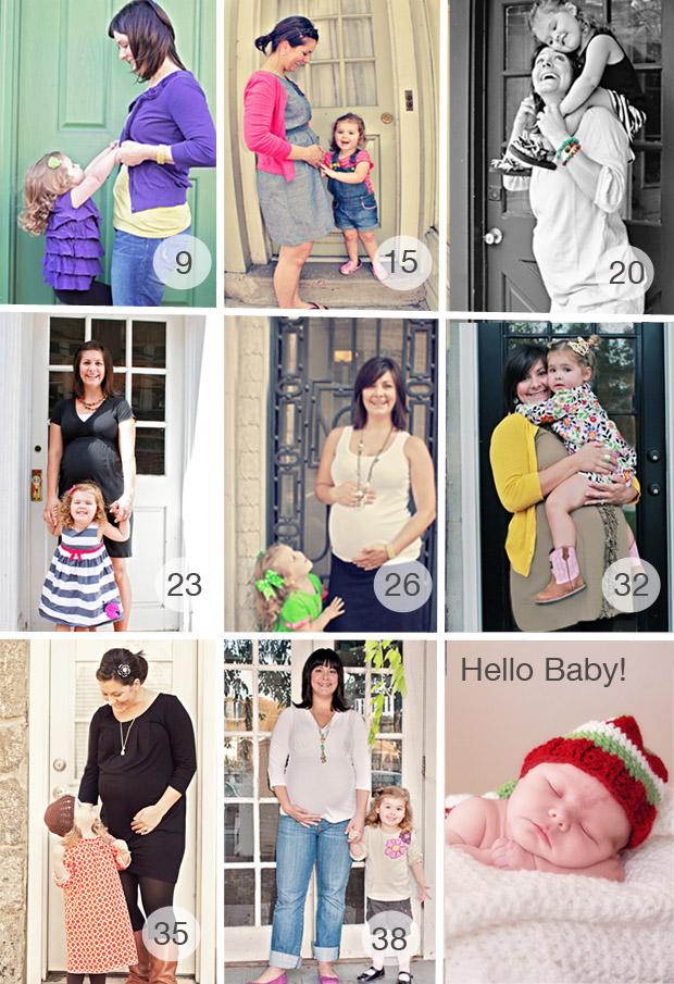 Week by Week Maternity Photos