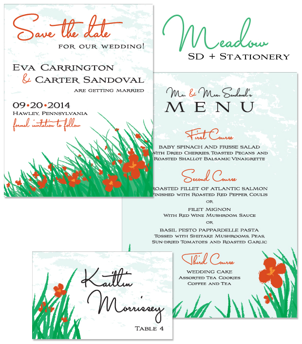 Meadow Save the Date and Stationery