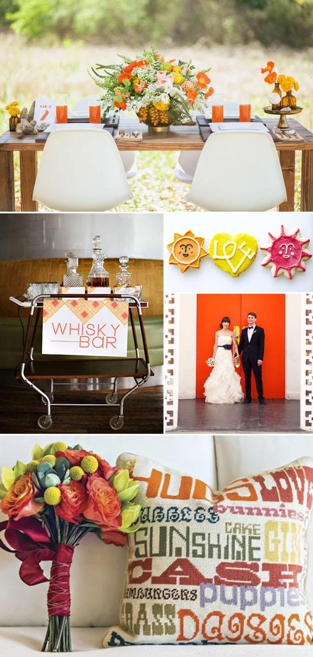 style: mid-century modern wedding inspiration
