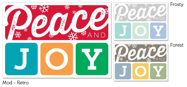 Mod Holiday Folding Note Cards (Retro, Frosty & Forest)