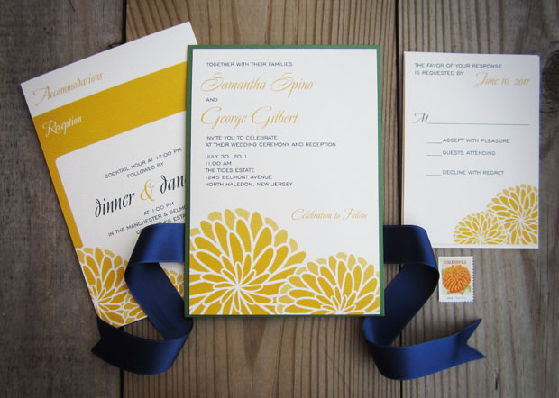 mums clutch  |  fall wedding invitation by the green kangaroo