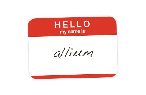Allium Nametag