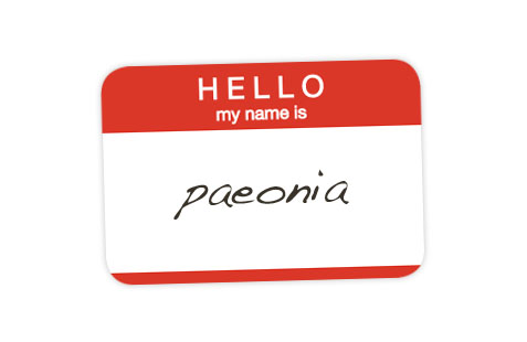 My name is Paeonia