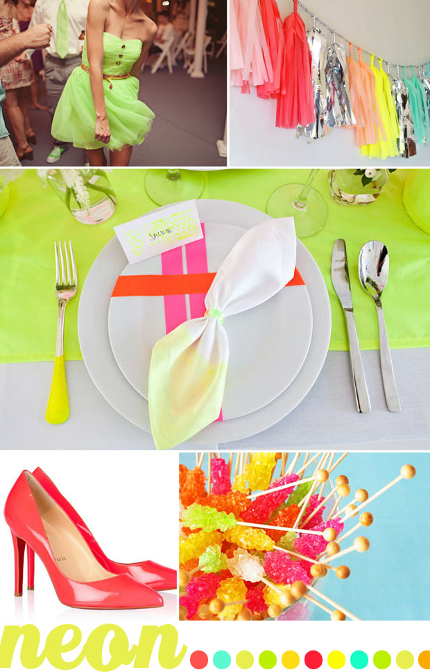 neon wedding color inspiration