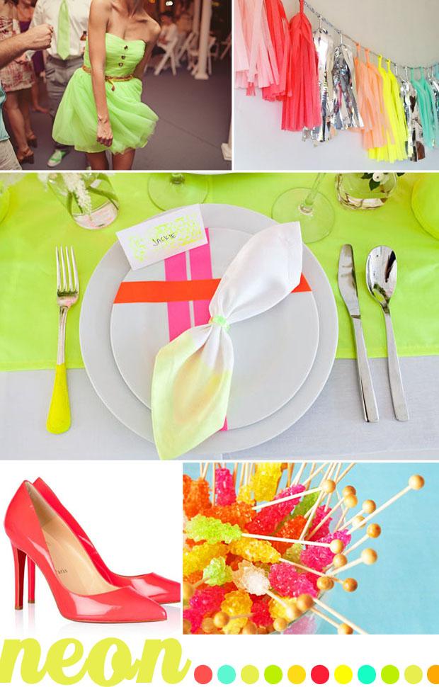neon wedding color inspiration