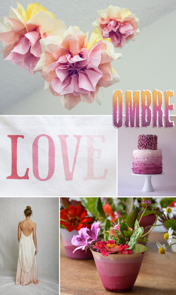 ombre wedding details