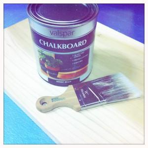 DIY chalkboard supplies
