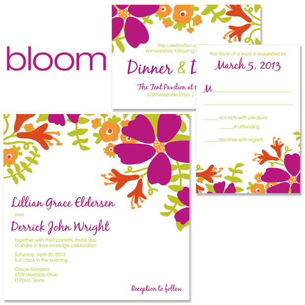 Bloom Wedding Invitation