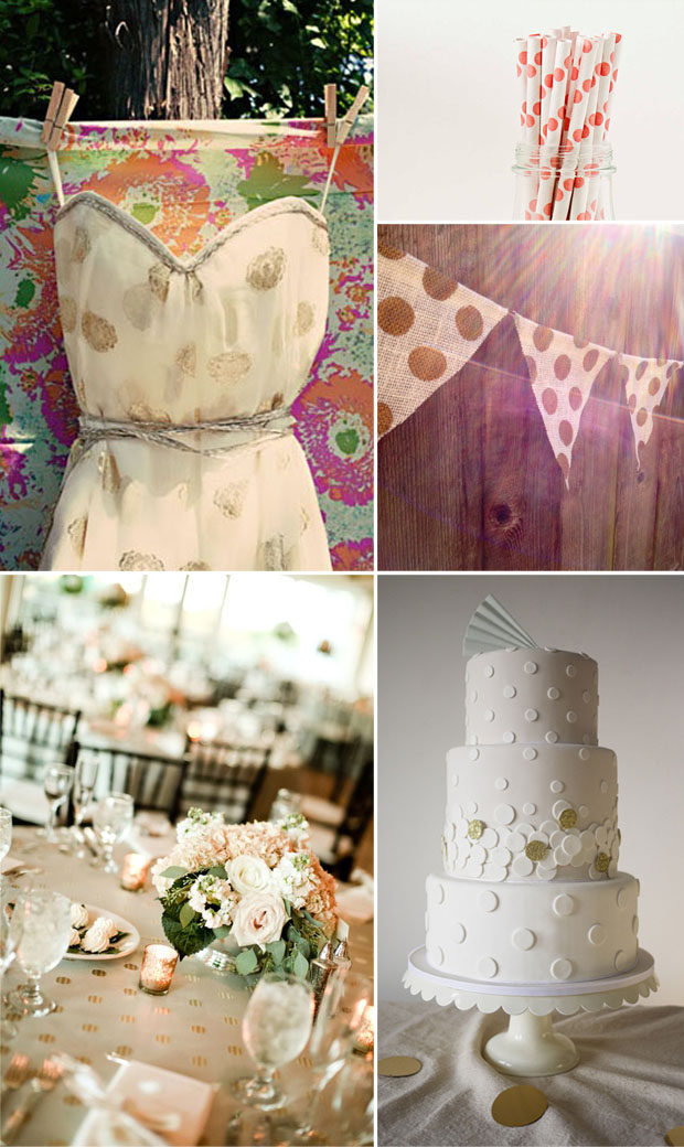 polka dot wedding trend inspiration