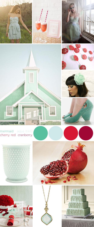 pomegranate mint inspiration board