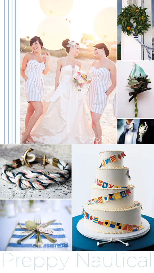 preppy nautical wedding style inspiration board
