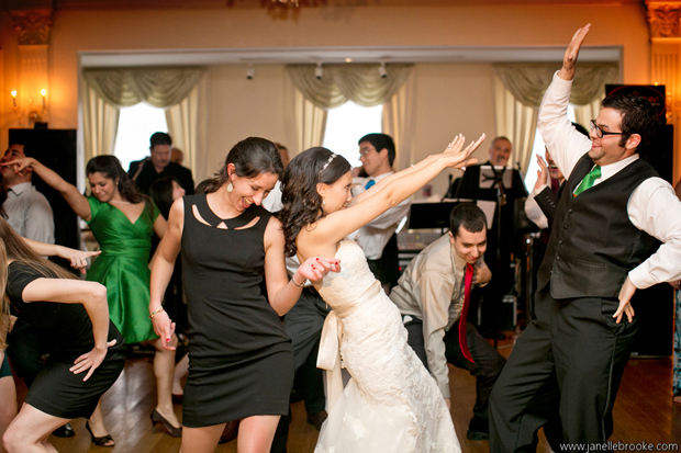 Kasey dancing with her guests at the reception.