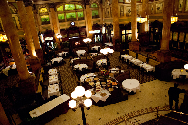 The Grand Concourse restaurant located in the beautifully restored Pittsburgh  and Lake Erie Railroad Station, Pittsburgh, PA