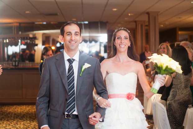 Laura and Jason enter the reception hall. Photo by Jayd Gardina.