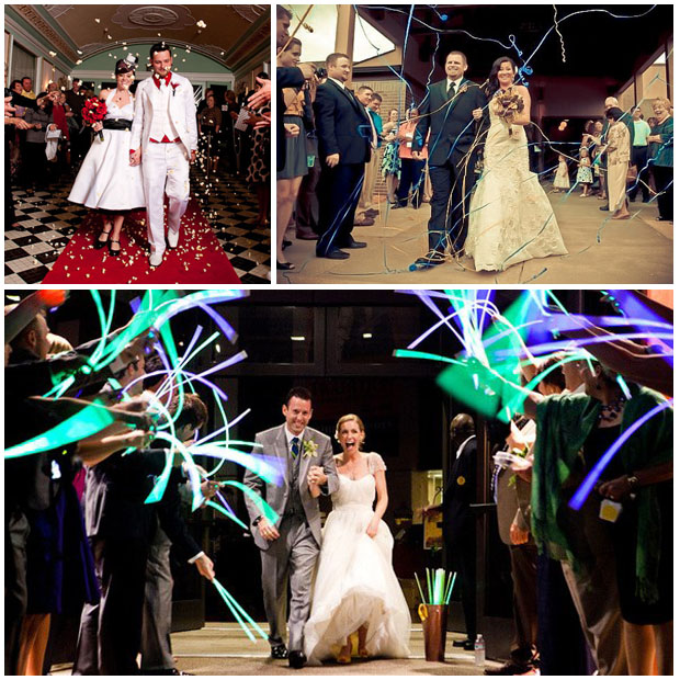 recessional-exits-getaways-sendoffs-bride-groom-glowsticks-popcorn-streamers