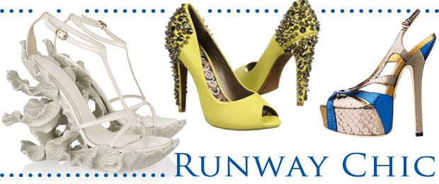 Wedding Shoe Trend Runway Chic
