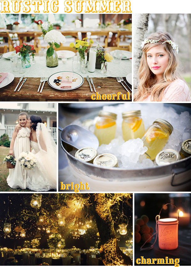 rustic summer wedding inspiration board