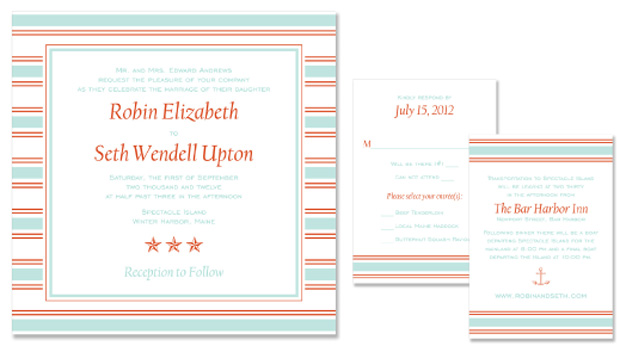 New Design Sail Wedding Invitation