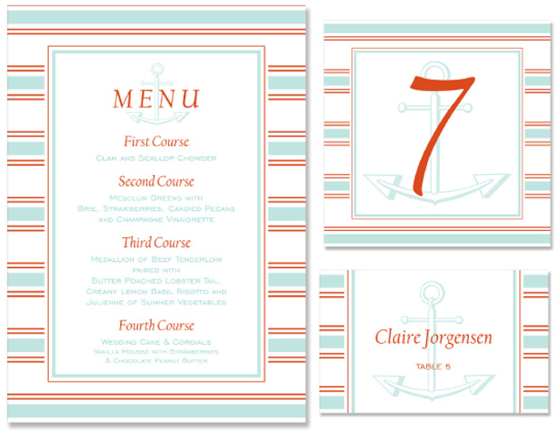 Sail Wedding Day Stationery