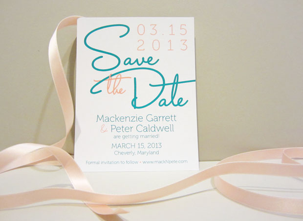 save the date wedding stationery from the green kangaroo