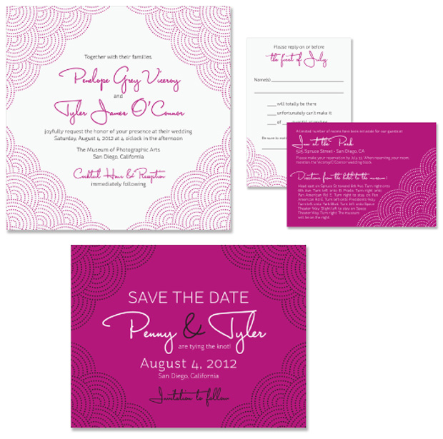 Scallop Wedding Invitation And Save the Date