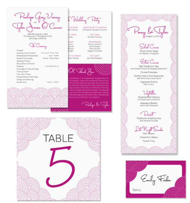 Scallop Wedding Day Stationery